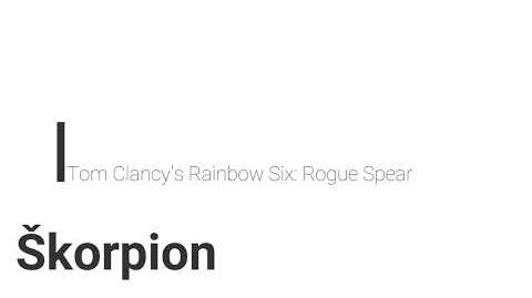 Rainbow Six- Rogue Spear Škorpion