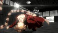 Kuraudo dodges Ikki's attack with Marginal Counter