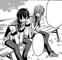 Nagi and Ikki talking about Ayase's situation