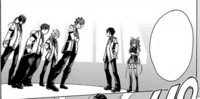 Ikki faces off against a group of freshmen