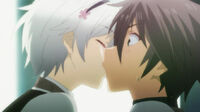 Ikki kissed by Shizuku