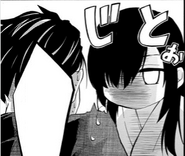 Ayase scarring her dad from picking up a sword