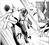 Ikki dodges freshmen katana
