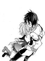 Kagami hugging Ikki