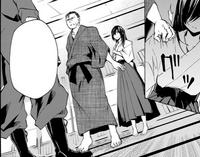 Kaito confronting Kuraudo