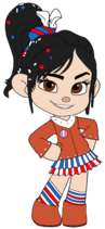 Vanellope as a Cowgirl