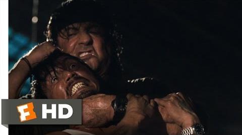 Rambo (8 12) Movie CLIP - Throat Rippin' (2008) HD