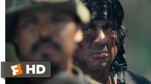 Rambo (10 12) Movie CLIP - .50 Caliber Rescue (2008) HD