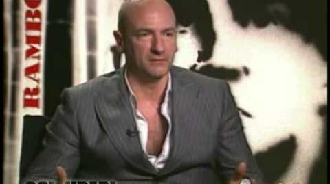 Graham Mctavish exclusive interview in Rambo