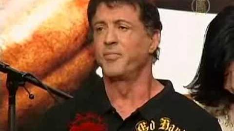 Sylvester Stallone Calls for Burmese Democracy