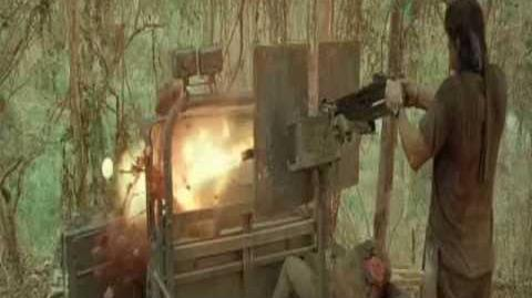 Rambo IV - Burmese Jeep driver liquefaction SLOW MOTION