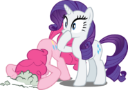 Mlp rarity and pinkie pie by ookami 95-d4rumdh