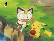Pikachu and Meowth