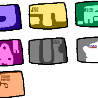 The different badge cases.