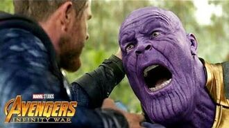 """Thanos Snaps His Fingers"" Clip From Avengers- Infinity War"