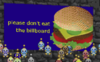 Don't eat the billboard