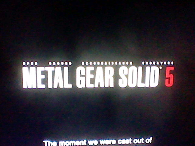 Metal Gear Solid 5 fake (maybe leaked?) logo