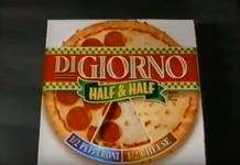 Digiorno Half & half frozen pizza