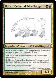 Horaz Celestial Dire Badger