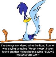 IFunny Road Runner SMOKE WEED EVERYDAY meme