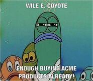 SpongeBob Wile E. Coyote meme