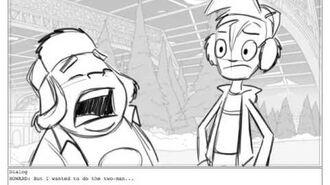 """'Randy Cunningham 9th Grade Ninja' storyboards """"Snowklahoma (part 1)"""""""
