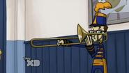 Stevens and his trombone