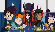 I love how like howard is all like YEEEEE BOOII and Dave is like k wow stop this love bullcrap and lets play the game and Julian is just sitting there gloating in his leadership omg wow