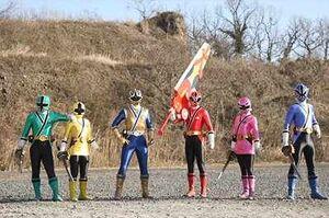 The Shinkengers (costumed)