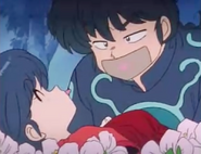 Ranma taped - Taking of Akane's Lips