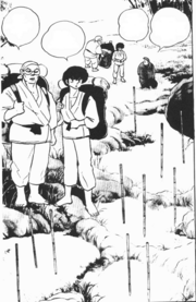 Ranma and Genma arrive at Jusenkyo