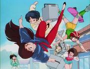 Akane dodges Kaori