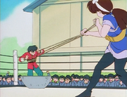 Ranma stuck in batter