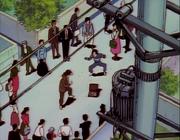 Gosunkugi fights Salesman - anime