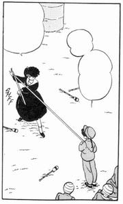 Ranma catches Ribbon
