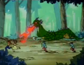 Ranma and Akane run from Fire Dragon.png