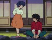 Akane invites Ranma - Hot Springs Battle Royale