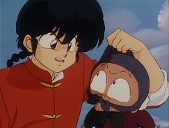Ranma confronts Happosai - Movie 1