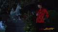 Ranma with Fox statue - live-action.png
