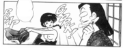 Topless Ranma - Soun reaction