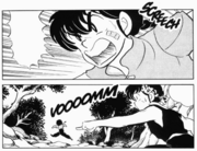 Ranma runs from Ryoga - Fast Break