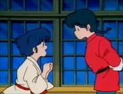 Ranma and Akane talk - Enter Mousse