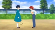 Ranma and Akane argue