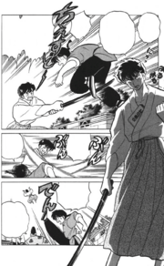 Ranma fights Oni Kuno