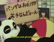 Pandas and ghosts don't mix