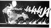 Ryoga attacks Ranma with Umbrella