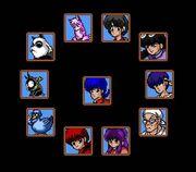 Akanekodan Teki Hihou playable characters