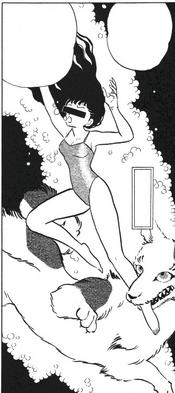 Artist impression of swimsuit dog