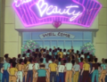Students line up outside rival Dojo.png