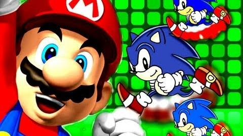 Crazy Rap Battles 1 Super Mario VS Sonic The Hedgehog-1